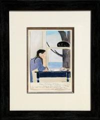 Spirit of Youth, Watercolor and Pastel Drawing by Will Barnet
