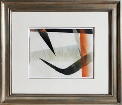 Untitled 4, Modern Abstract Monotype by Harry Beroia