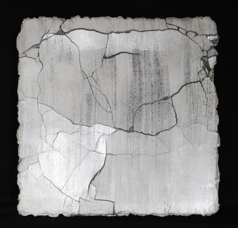 Artist: Curtis Mitchell, American (1954 -  ) Title: Broken Wall Year: 1989 Medium: Mixed Media Wall Sculpture (Plaster, Resin, Acrylic), signed and dated verso Size: 28.5  x 28  x 3 in. (72.39  x 71.12  x 7.62 cm)