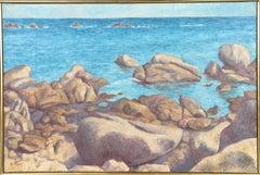 Matin d'ete sur les Rochers du Lividie, Oil Painting by Laurent Salinas