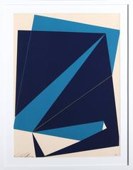 Untitled - Navy and Blue Rectangles