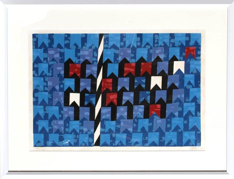 Alfredo Volpi Abstract Print - Bandeirinhas estruturadas