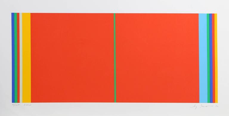 Bridge, Geometric Stripe Silkscreen by Jay Rosenblum