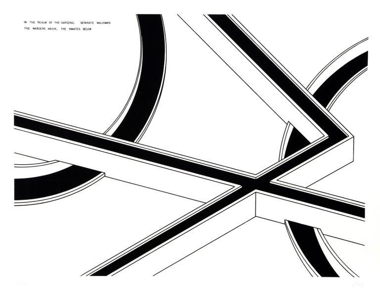 Robert Morris Abstract Print - Separate Walkways