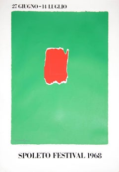 Spoleto Festival, Signed, Numbered Silkscreen by Robert Motherwell