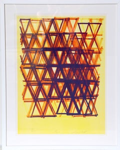 Rhythm Series IV, Abstract Serigraph by Leo Bates
