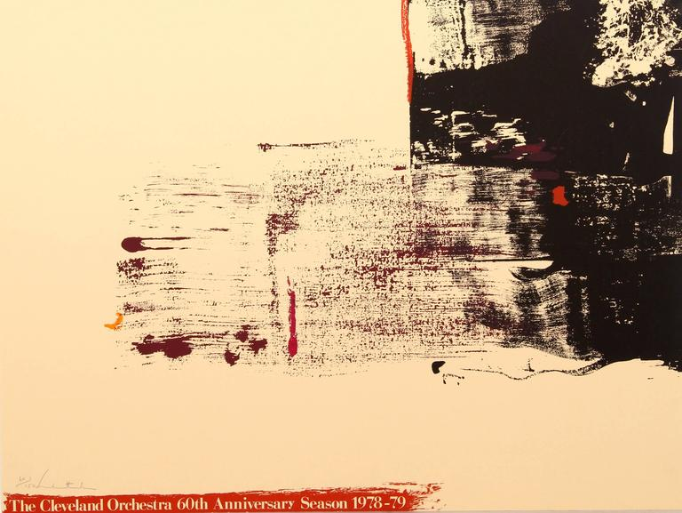 Helen Frankenthaler Abstract Print - Cleveland Orchestra