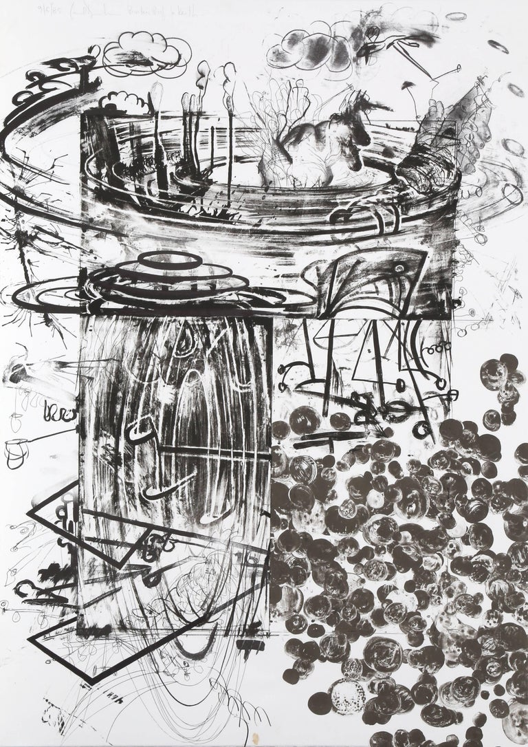 Artist: Carroll Dunham Title:Accelerator Year:1985 Medium:Lithograph, Signed  in Pencil Edition: 4, PP Size: 42 x 30 inches [106.68 x 76.2 cm]