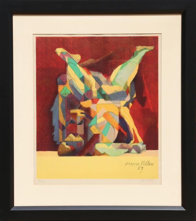 Jacques Villon Figurative Print - La Lutte (The Fight)