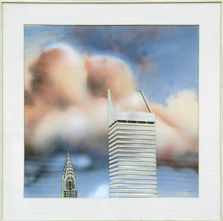 Citicorp and Chrysler Buildings - Mixed Media Art by Ronald Mallory