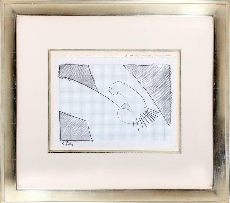 Self-Portrait (Penis), Original Pencil drawing by Keith Haring