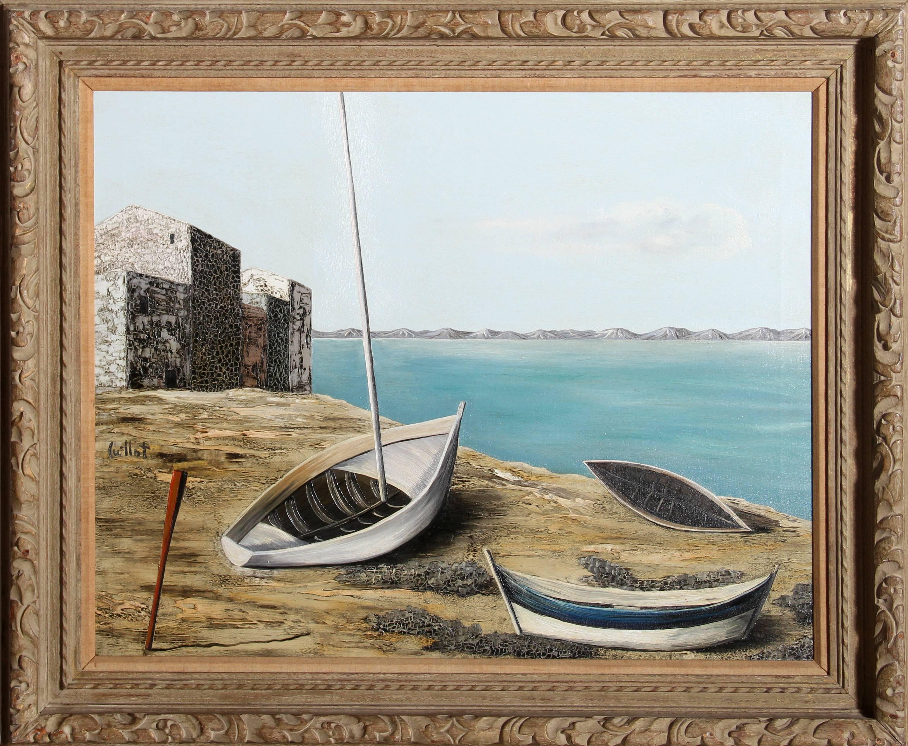 Bateaux, Oil Painting by Alvaro Guillot