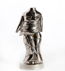 Mini-Cariatide, Nickel Puzzle Sculpture by Berrocal 1968