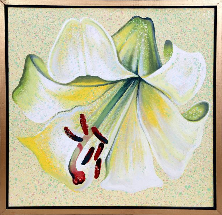 Lowell Nesbitt Still-Life Painting - White Lily
