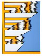 Pop Geometric Abstract Silkscreen by Krushenick