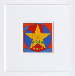 Star of Hope, Enamel Print by Robert Indiana