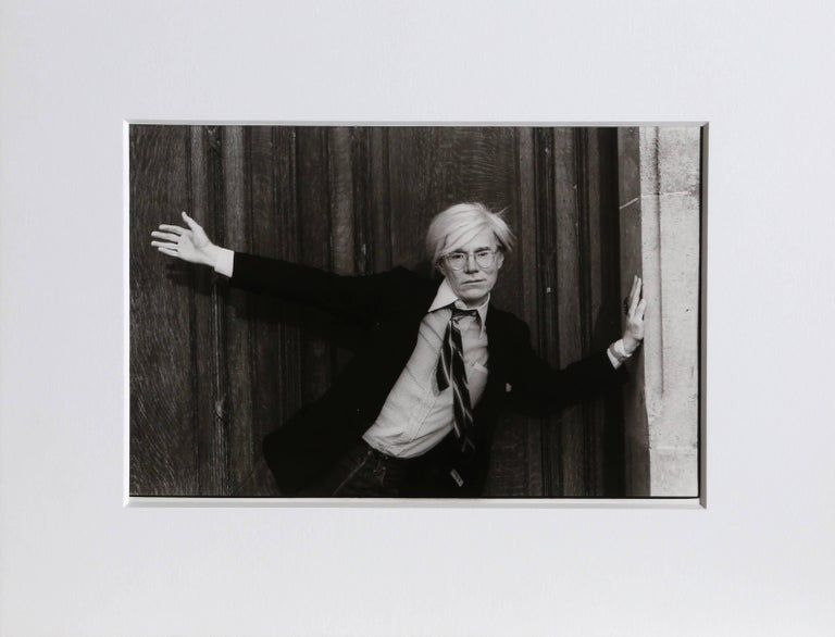 Christopher Makos Black and White Photograph - Andy Warhol in Paris
