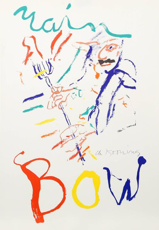 Willem de Kooning Abstract Print - Rainbow - Thelonius Monk - Devil at the Keyboard