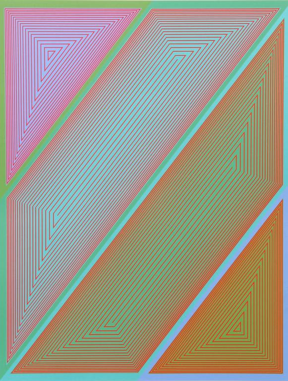 Inward Eye, #2 OP Art Serigraph by Anuszkiewicz