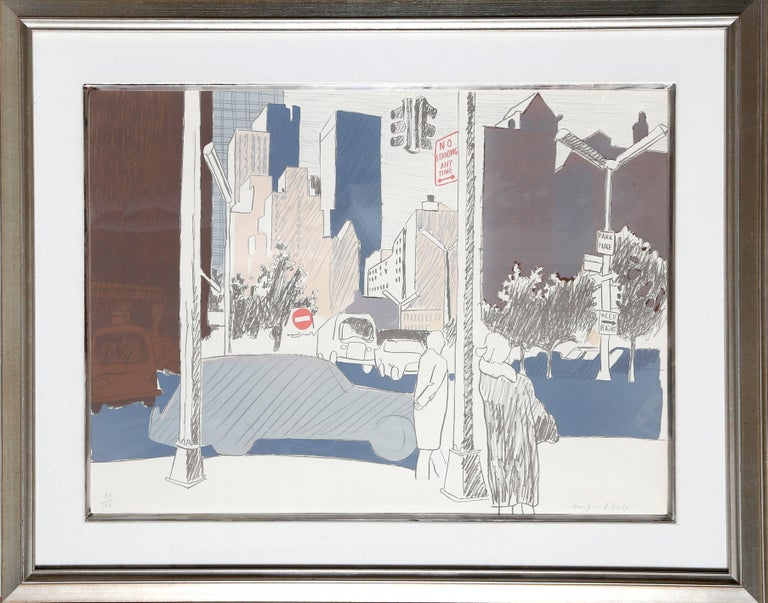 Artist: Fairfield Porter, American (1907 - 1975) Title: Untitled (NYC) Year: circa 1970 Medium: Lithograph on Arches, signed and numbered in pencil Edition: 100 Size: 22 in. x 30 in. (55.88 cm x 76.2 cm) Frame Size: 31.5 x 39.25 inches
