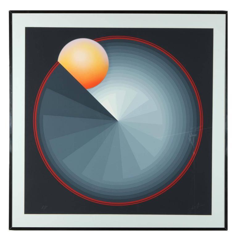 Patrice Breteau Abstract Print - Sun Dial
