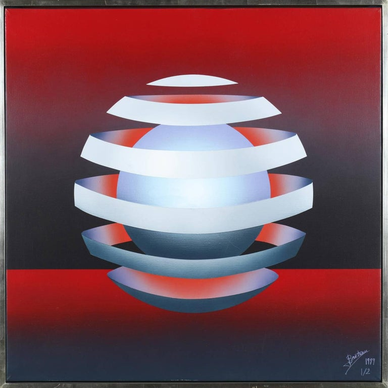 Patrice Breteau Abstract Painting - Sphere 1