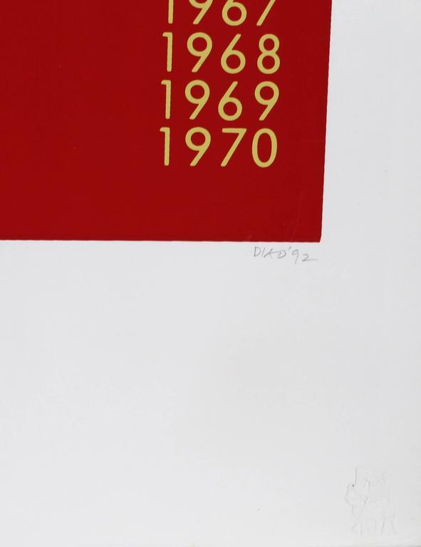 Barnett Newman Chronology of Work - Minimalist Print by David Diao