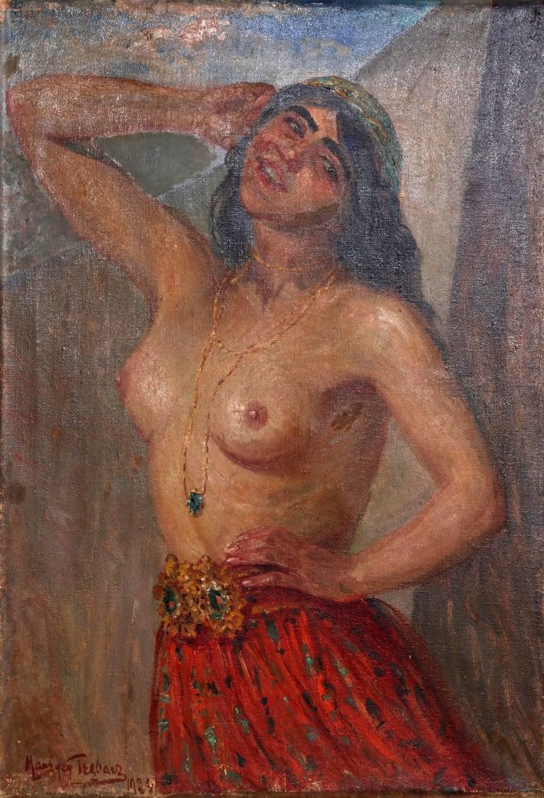 Maurycy Trebacz Nude Painting - Gypsy