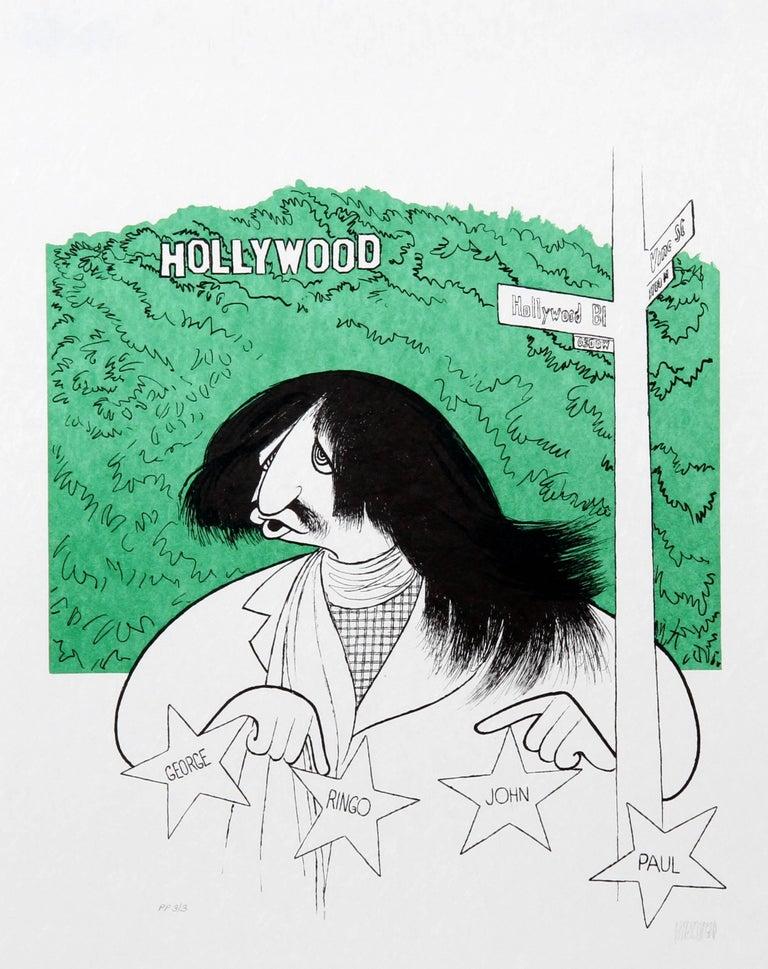 Albert Al Hirschfeld Figurative Print - Ringo Starr Visits Hollywood