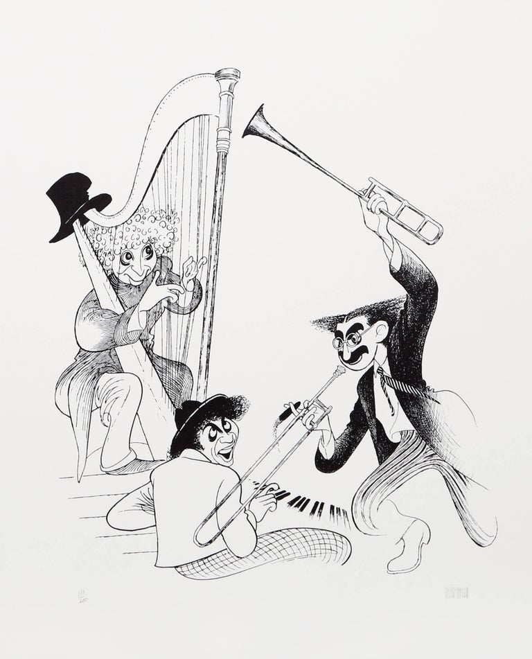 Albert Al Hirschfeld Figurative Print - The Marx Brothers Musicale