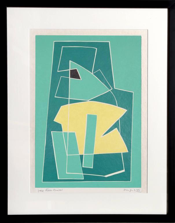 Alberto Magnelli Abstract Print - II from La Magnanerie de la Ferrage