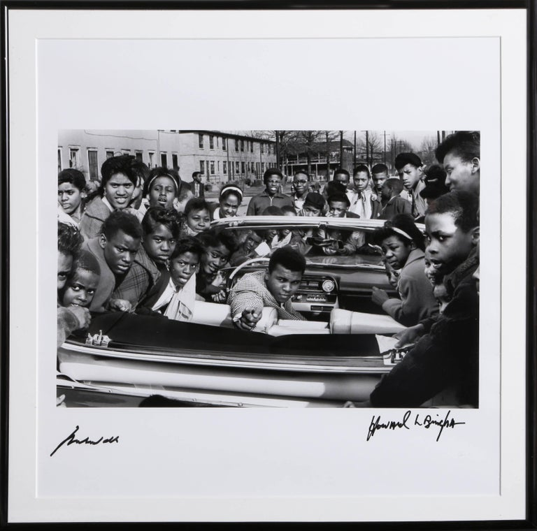 Howard Bingham Black and White Photograph - Cassius Clay in Louisville, Pink Cadillac