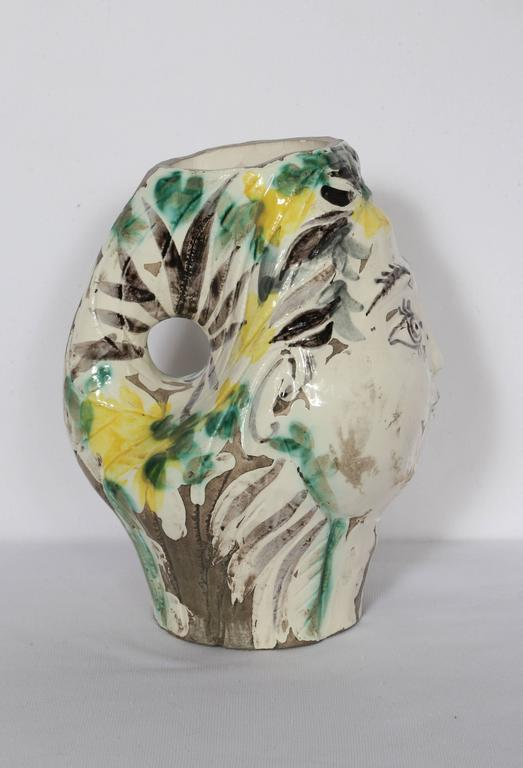 Woman's Head, Decorated with Flowers For Sale 5