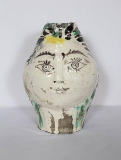 Woman's Head, Decorated with Flowers