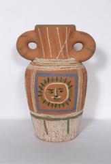 Vase avec decoration pastel