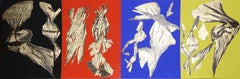 Dual Nature (Quad), Suite of Four Silkscreens with Gold Leaf