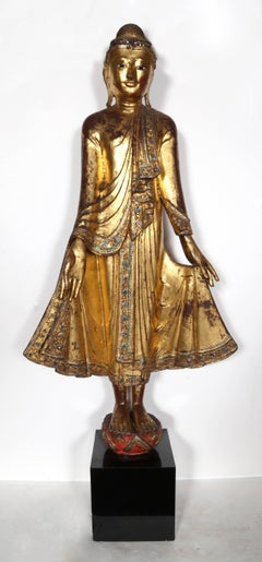 Myanmar (Burma) Mandalay Standing Buddha