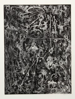 Abstract Expressionist Etching by Ossorio