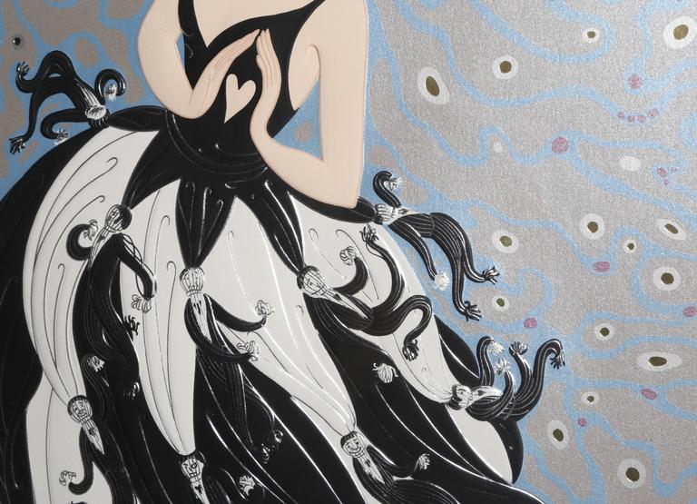 Tuxedo - Gray Figurative Print by Erté