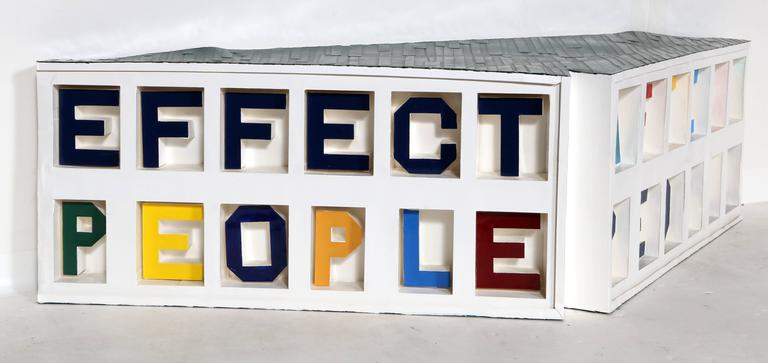 Artist: Chris Caccamise, American (1975 - ) Title: Effect People - Affect People Year: 2007 Medium: Mixed Media Sculpture with Paper, Enamel and Glue Size: 10.5 x 30 x 8 in. (26.67 x 76.2 x 20.32 cm)