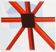 Squared Star, Pop Abstract by Allan D'Arcangelo