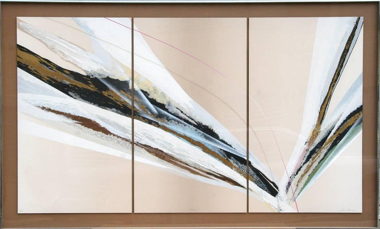 Artist: Elba Alvarez, Venezuelan (1944 - ) Title: Prima I Year: circa 1975 Medium: Triptych of Serigraphs on Panel, Signed, Titled and Numbered in pencil Edition: 10/25 Image Size: 38 x 22 inches (each panel) Size: 38 in. x 68 in. (96.52 cm x