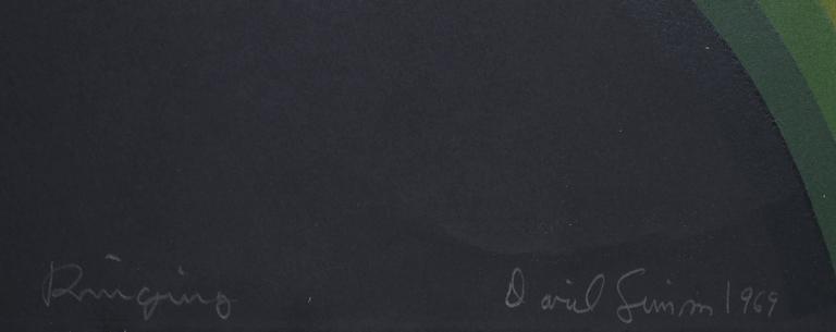 Ringling - Black Abstract Print by David Simpson