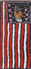 US Flag with Bill and Hillary Clinton