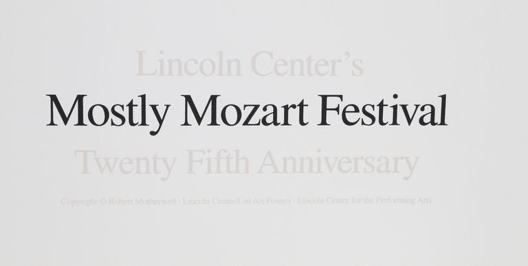 Lincoln Center Mostly Mozart, 25th Anniversary - Print by Robert Motherwell