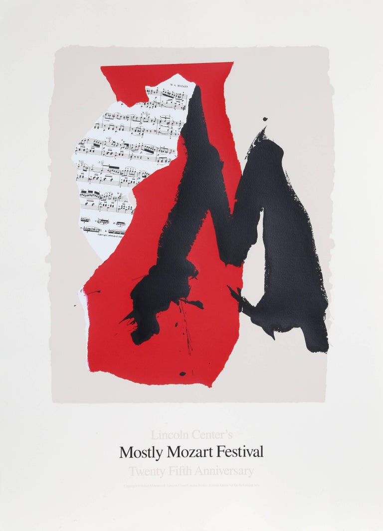 Robert Motherwell Abstract Print - Lincoln Center Mostly Mozart, 25th Anniversary