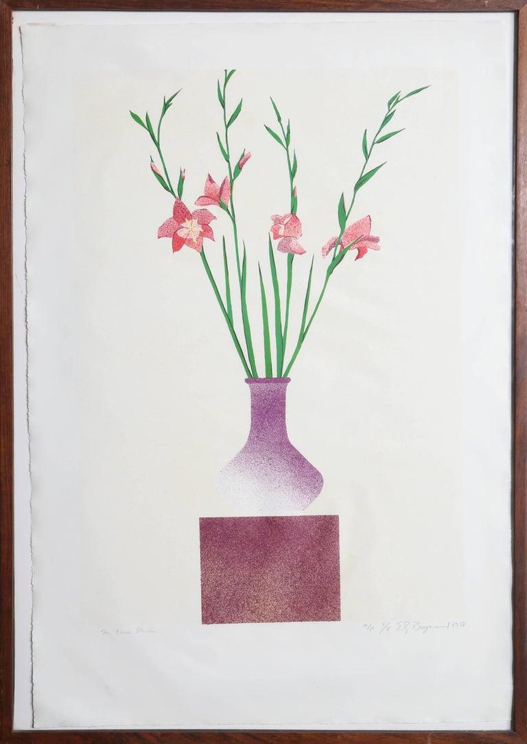 Ed Baynard Still-Life Print - Vase of Flowers