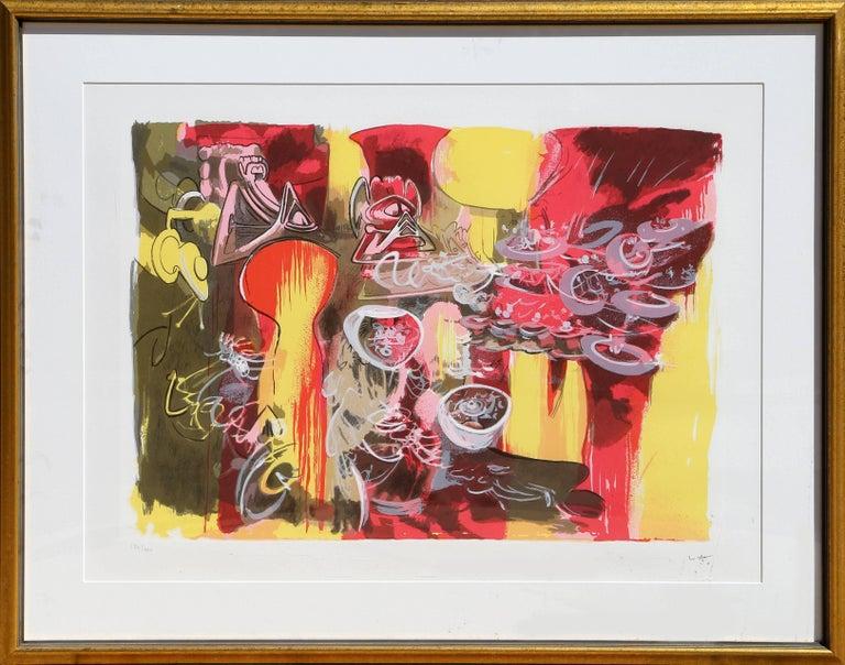 Roberto Matta Abstract Print - L'eau est Mana