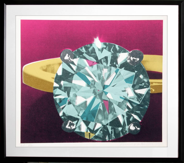 Artist: Richard Bernstein Title: Diamond Year: 1978 Medium: Silkscreen, signed and numbered in pencil Edition: 200, AP 30 Size: 26 in. x 30.5 in. (66.04 cm x 77.47 cm) Frame Size: 32.5 x 36.5 inches