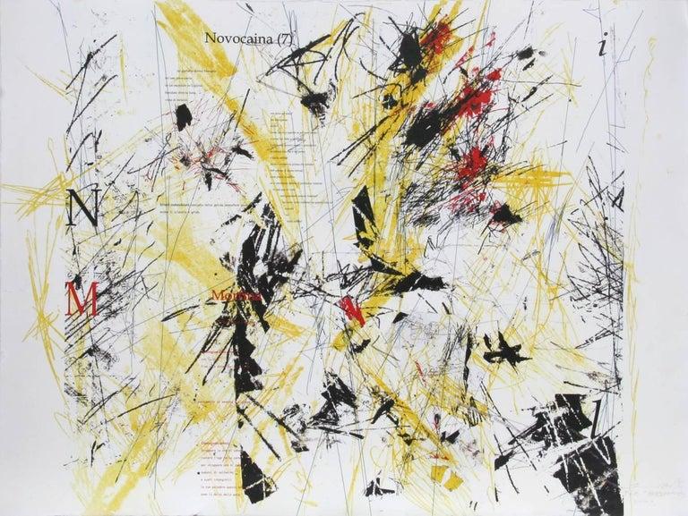 Sandro Martini Abstract Print - Abecedario (Yellow)